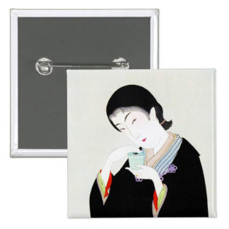 Cool oriental japanese classic geisha lady art pins