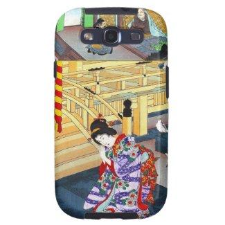 Cool oriental japanese classic geisha lady art samsung galaxy s3 case