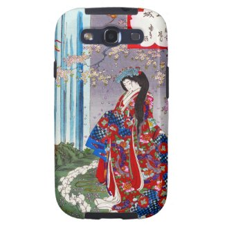 Cool oriental japanese classic geisha lady art galaxy SIII case