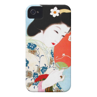 Cool oriental japanese classic geisha lady art iPhone 4 case