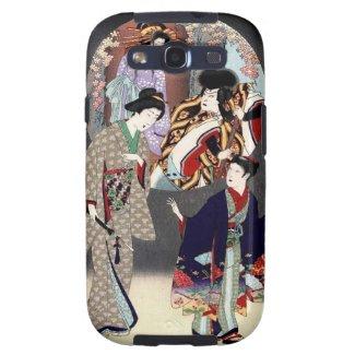 Cool oriental japanese classic geisha lady art samsung galaxy s3 covers