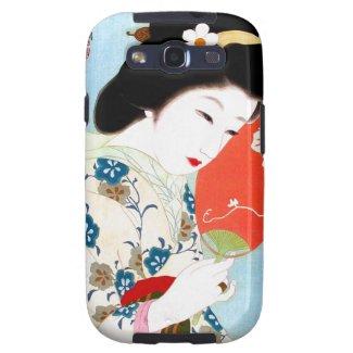 Cool oriental japanese classic geisha lady art samsung galaxy s3 cover