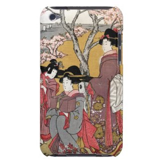 Cool oriental japanese classic geisha lady art barely there iPod cases