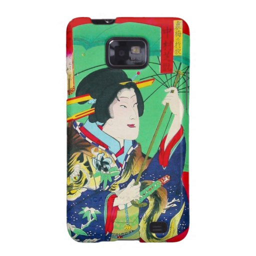 Cool oriental japanese classic geisha lady art samsung galaxy s2 cover