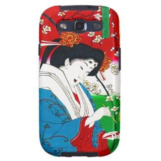 Cool oriental japanese classic geisha lady art samsung galaxy SIII cover
