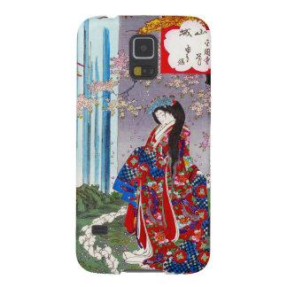 Cool oriental japanese classic geisha lady art galaxy s5 case