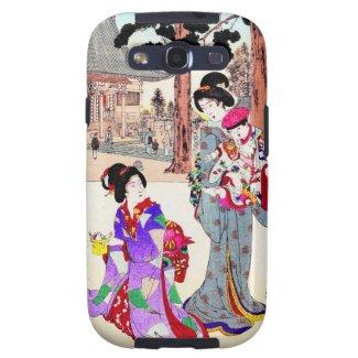 Cool oriental japanese classic geisha lady art galaxy s3 cases