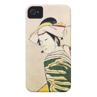 Cool oriental japanese classic geisha lady art Case-Mate iPhone 4 case