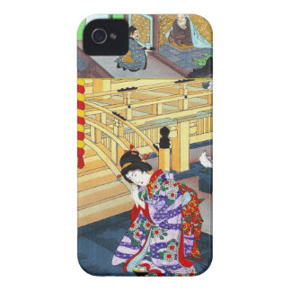 Cool oriental japanese classic geisha lady art iPhone 4 covers