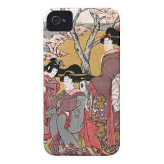 Cool oriental japanese classic geisha lady art iPhone 4 cases