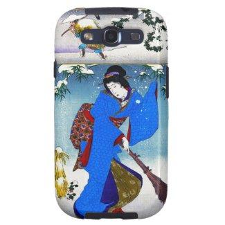 Cool oriental japanese classic geisha lady art galaxy s3 case