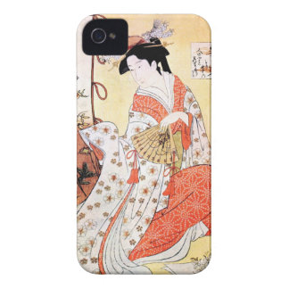 Cool oriental japanese classic geisha lady art coo iPhone 4 cover