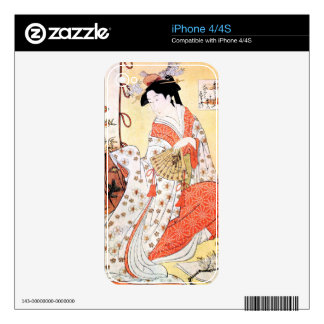 Cool oriental japanese classic geisha lady art coo decals for the iPhone 4