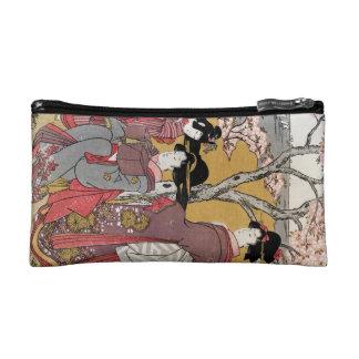 Cool oriental japanese classic geisha lady art makeup bag