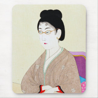 Cool oriental japanese classic geisha lady art mouse pad