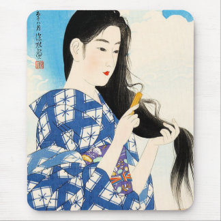Cool oriental japanese classic geisha lady art mousepads