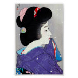 Cool oriental japanese classic geisha lady art posters