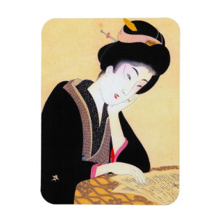 Cool oriental japanese classic geisha lady art vinyl magnets