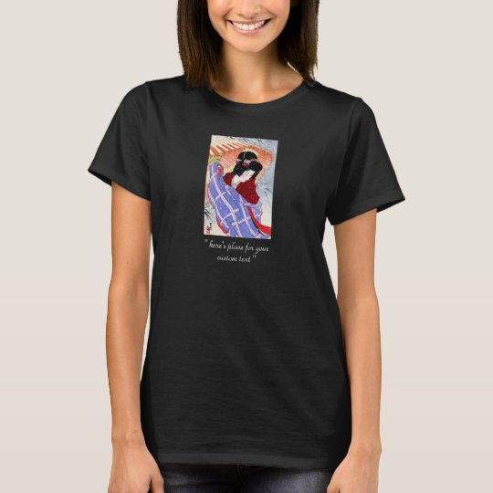 Cool oriental japanese classic geisha lady art T-Shirt