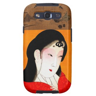 Cool oriental japanese classic geisha lady samsung galaxy s3 case