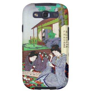 Cool oriental japanese classic geisha lady garden samsung galaxy SIII cases