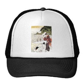 Cool Oriental Japanese Classic Geishas art Mesh Hats