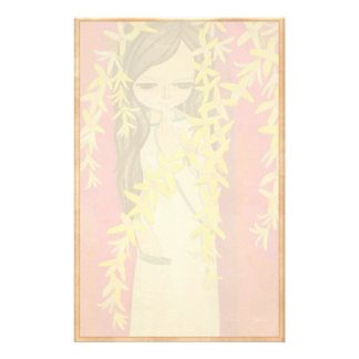 Cool oriental japanese classic girl lady art stationery