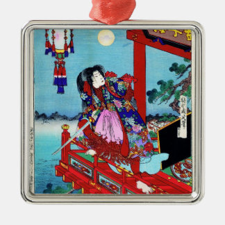 Cool oriental japanese classic Hero Warrior art Metal Ornament