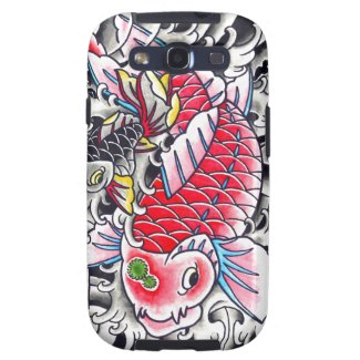 Cool Oriental Japanese Classic Ink red Koi Fish Samsung Galaxy S3 Cover