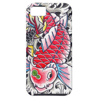 Cool Oriental Japanese Classic Ink red Koi Fish iPhone SE/5/5s Case