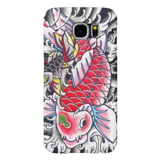 Cool Oriental Japanese Classic Ink red Koi Fish Samsung Galaxy S6 Case