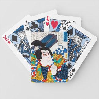 Cool oriental japanese classic kabuki actor art bicycle card deck