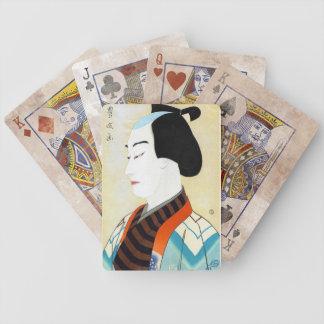 Cool oriental japanese classic kabuki actor art bicycle poker cards
