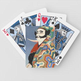 Cool oriental japanese classic kabuki actor art playing cards