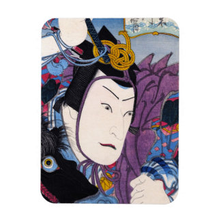 Cool oriental japanese classic kabuki actor art rectangular photo magnet