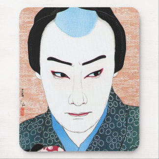 Cool oriental japanese classic kabuki painting mouse pad