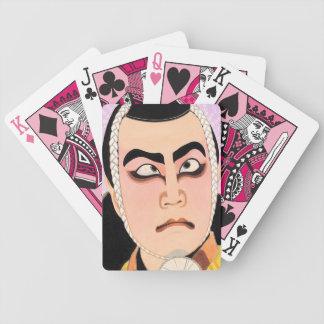 Cool oriental japanese classic kabuki painting playing cards