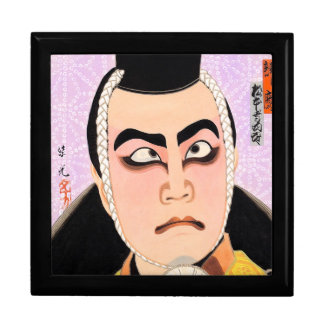 Cool oriental japanese classic kabuki painting trinket box