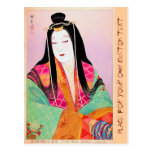 Cool oriental japanese classic lady woman beauty post cards