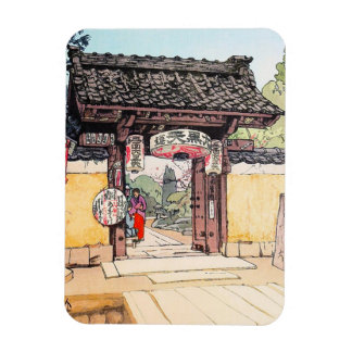 Cool oriental japanese classic Little Templa Gate Magnet