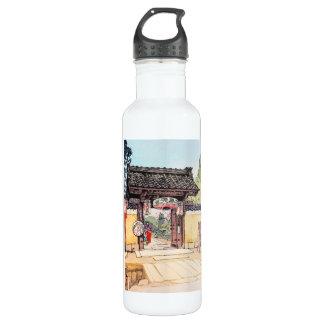 Cool oriental japanese classic Little Templa Gate Water Bottle