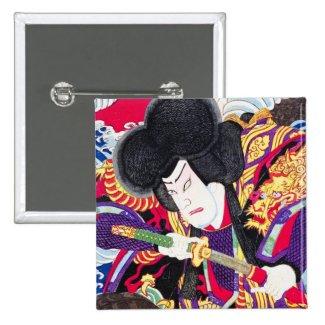 Cool oriental japanese classic samurai swordsman pins