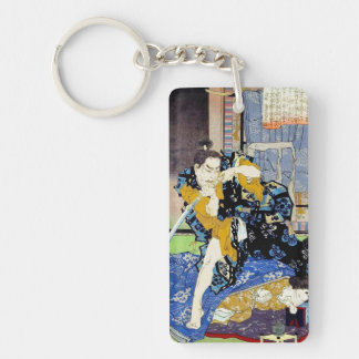 Cool oriental japanese classic samurai warrior art keychain