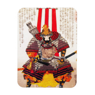 Cool oriental japanese classic samurai warrior art magnet