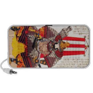 Cool oriental japanese classic samurai warrior art laptop speakers