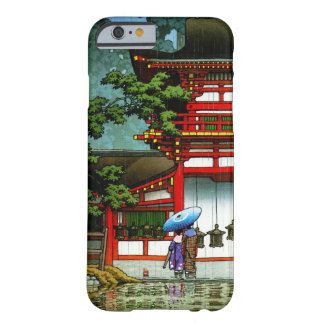Cool oriental japanese classic temple rain art barely there iPhone 6 case