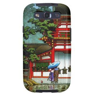 Cool oriental japanese classic temple rain art samsung galaxy s3 cases