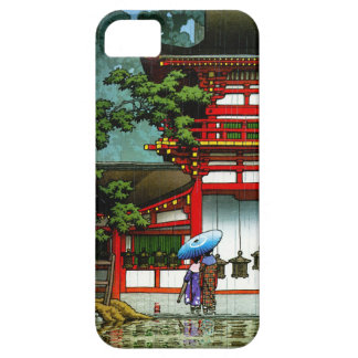Cool oriental japanese classic temple rain art iPhone SE/5/5s case