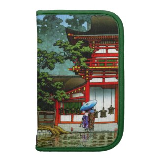 Cool oriental japanese classic temple rain art planners