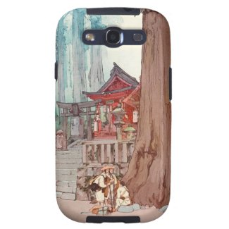 Cool oriental japanese classic temple shrine art galaxy s3 cover